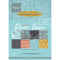 Дизайнерско блокче - Marianne Design pretty papers bloc Eline's silver star