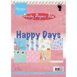 Дизайнерско блокче - Marianne Design pretty papers bloc happy days