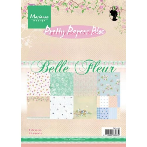Дизайнерско блокче - Marianne Design pretty papers bloc belle fleur