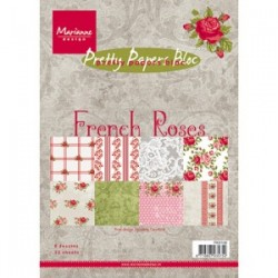 Дизайнерско блокче - Marianne Design pretty papers bloc French roses