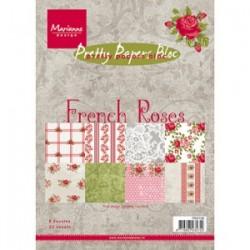 Дизайнерско блокче - Marianne Design pretty papers bloc French roses