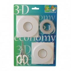 Комплект от лепящи средства - 3-D economy kit 2x foampad/foamtape/dubbelz. tape +1x schaar