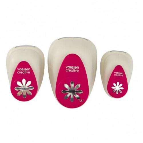 Комплект от 3бр. пънчове/перфоратори цветя - figuurpons bloemen