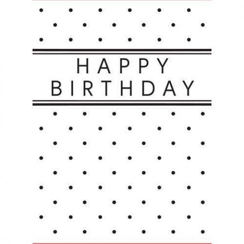 Ембосинг папка - Darice - Embossing template 10,8x14,6cm happy birthday