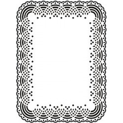 Папка за релеф - Darice - Embossing template 10,8x14,6cm doily lace