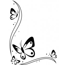 Папка за релеф - Darice - Embossing template 10,8x14,6cm butterflies border