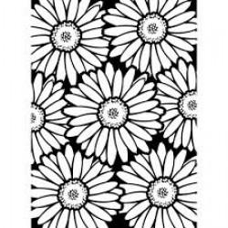 Папка за релеф - Darice - Embossing template 10,8x14,6cm bold daisy