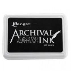Перманентно черно мастило - Ranger - Archival ink pad jet black