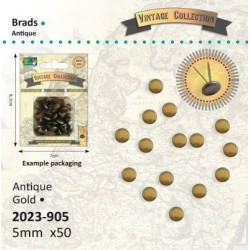 Винтидж антично злато, 50бр. брадс 5мм - Brads Vintage 5mm x50 antiek goud