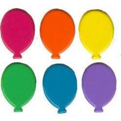 Брадс - балони, наситени цветове, 25бр. - Brads 25x balloon tropic