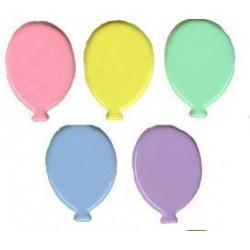 Брадс - балони, пастелни цветове, 25бр.  - Brads 25x balloon pastel