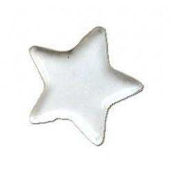 Брадс бели звезди, 25бр. - Brads 25x star white