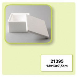 Квадратна кутийка от стирофом - Styropor box smooth 130x130x75