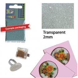 Прозрачни стъклени топчета за декориране - Glaskorrels 2mm 25g transparent - 25гр.