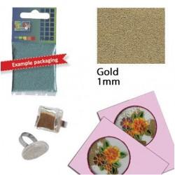 Стъклени топчета за декориране - злато - Glass grains 1 mm. gold 25 grs. - 25гр.
