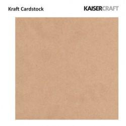 "Крафт картон 12"" х 12"" - 1бр. - Kaiser craft - Kaiser craft kraft cardstock"
