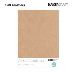 Крафт картон А4, 120гр., 20бр. - Kaiser craft kraft cardstock A4 120g x20