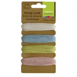 К-т разноцветни шнурове 4 х 10м - Hemp cord assortiment 4x10m spring
