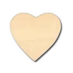 Дървени сърца за декориране 9 х 1см - Wooden heart 9cm x1