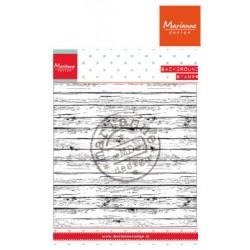 Силиконов печат имитация на дърво - Marianne Design clear stamps wood