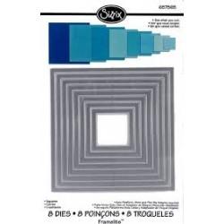 Щанци за изрязване квадрати - Sizzix Framelits Die set 8pk squares