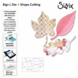 Дълбоки щанци листа - Sizzix BW bigz L die leaves
