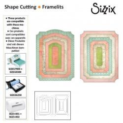 Метални щанци етикети/ тагове / надписи - Sizzix framelits die set x12 fancy cards