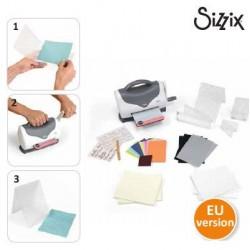 Начален комплект за правене на релеф Sizzix - Sizzix texture boutique embossing machine beginners kit