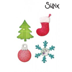 Щанци за изрязване - Sizzix Bigz Die christmas tree, snowflake