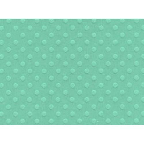 """Дизайнерски картон 12"""" х 12"""" тюркоаз с релефни точки - Bazzill - Swiss dot 12""""x12"""" x1 tahitian princess"""