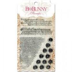 Силиконов печат надпис/ писания/ текст - Bo Bunny clear stamp 10x15,3cm it is written