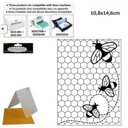 Ембосинг папка с размери 10.8х14.6см пчели - Darice - Embossing template 10,8x14,6cm bees buzzing