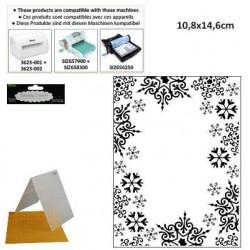 Ембосинг папка с размери 10.8х14.6см снежинки - Darice - Embossing template 10,8x14,6cm snowflake trim