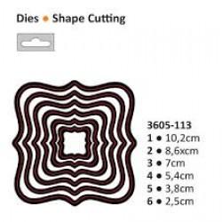 Die cut stencil nesting square 102x102mm - Darice - Die cut stencil nesting square 102x102mm