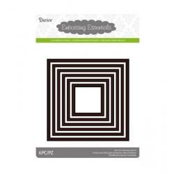 Универсалви тънки метални щанци 6бр. квадрати - Darice - Die cut stencil nesting squares x6