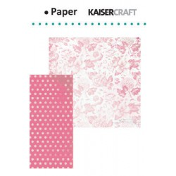 "Двустранен дизайнерски лист - Kaiser craft oh so lovely double-sided 12x12"" femme"