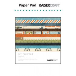 "Дизайнерско блокче - Kaiser craft wanderlust paper pad 6,5x6,5"""