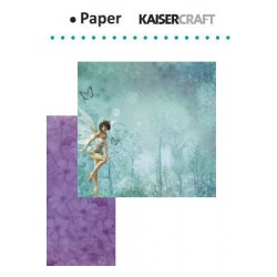 "Двустранен дизайнерски лист - Kaiser craft Fairy dust double-sided 12x12"" dew drops"