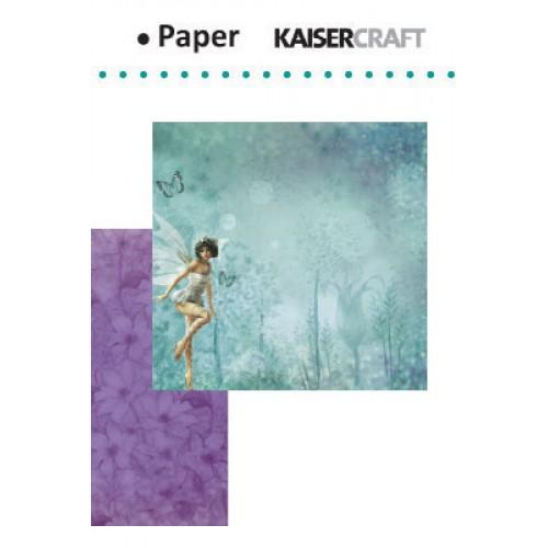 "Двустранен дизайнерски лист - Kaiser craft Fairy dust double-sided 12x12"" dew drops"