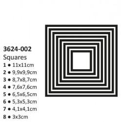 Универсални щанци за рязане и релеф 8бр. квадрати - Vaessen - Shape cutting x8 dies squares