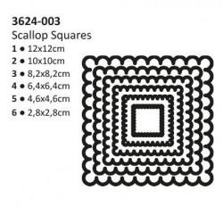 Щанци за рязане и релеф - Vaessen - Shape cutting x6 dies squares scallop