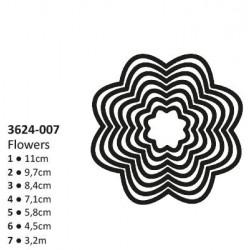 Тънки метални щанци 7 размера цветя - Shape cutting x7 dies flowers