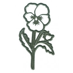 Тънка метална щанца теменужка - Marianne Design Craftables Tiny's pansy