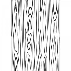 Силиконов фонов печат - имитация на дърво - Kaiser craft clear stamp background woodgrain