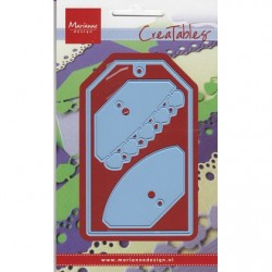 Тънка метална шщанца таг - Marianne Design Creatables labels hearts