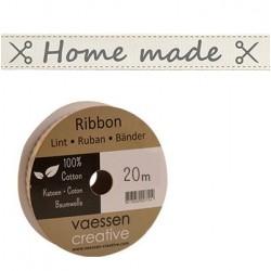 Панделка с принт - Ribbon 15mm ENG home made - 1 метър
