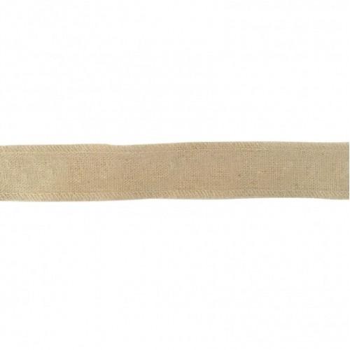 Панделка юта /зебло - 25мм - Ribbon 25mm onbedrukt - 1 метър