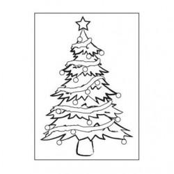 Ембосинг папка с елха - Embossing template 10,8x14,6cm christmas tree