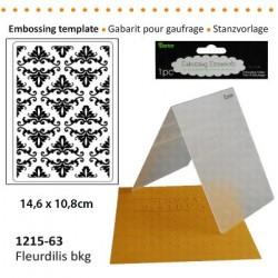 Ембосинг папка - Embossing template 10,8x14,6cm fleurdilis bkg