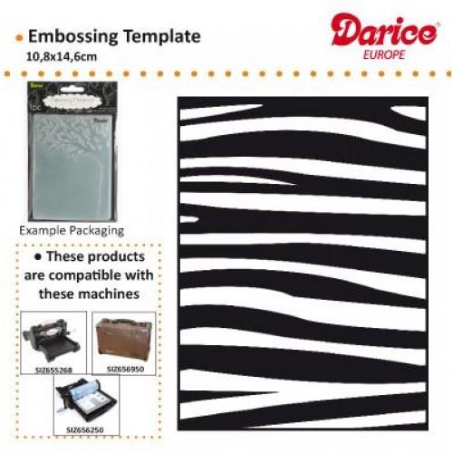 Ембосинг папка - шарка на зебра - Embossing template 10,8x14,6cm zebra pattern